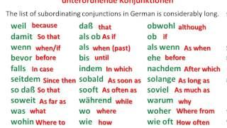 German conjunctions - www.germanforspalding.org