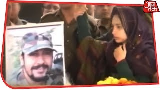 Major Dhoudiyal's Wife Bids Teary Adieu To Martyred Husband