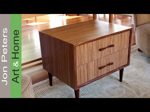 How To Use Wood Veneer  Refinish Furniture with Zebrawood Veneer  YouTube