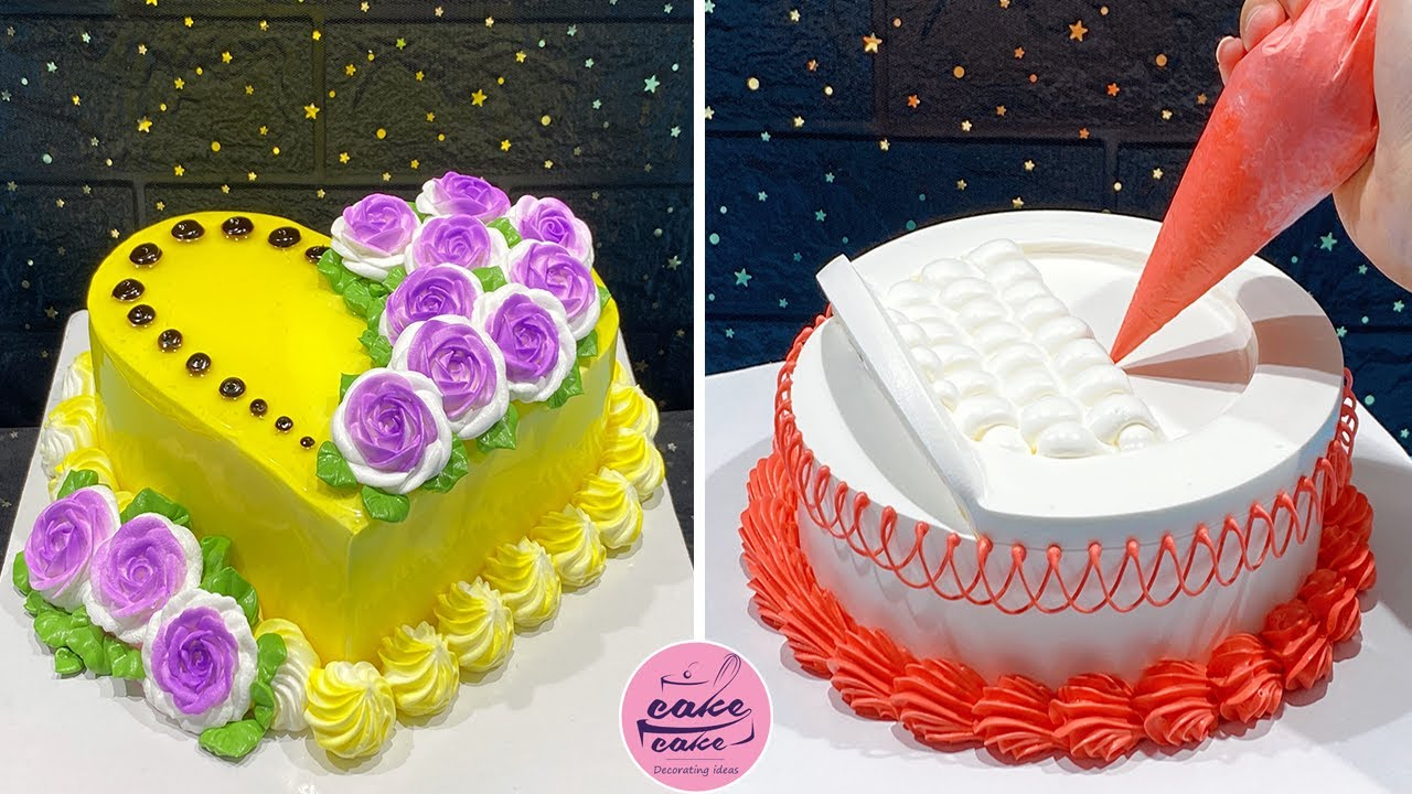 Most Satisfying Heart Cake Decorating Ideas For Ocassion | Yummy Cake Decorating Tutorials Video