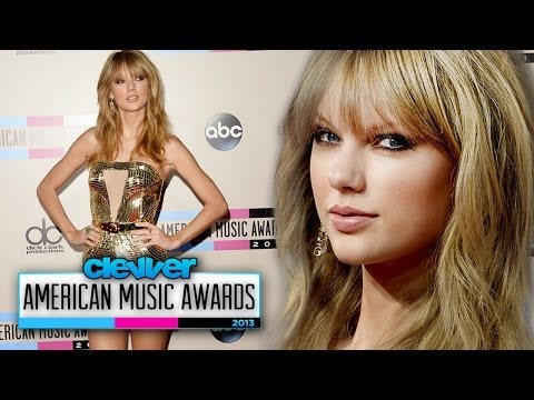 Taylor Swift Gold Glitter Dress at American Music Awards 2013!