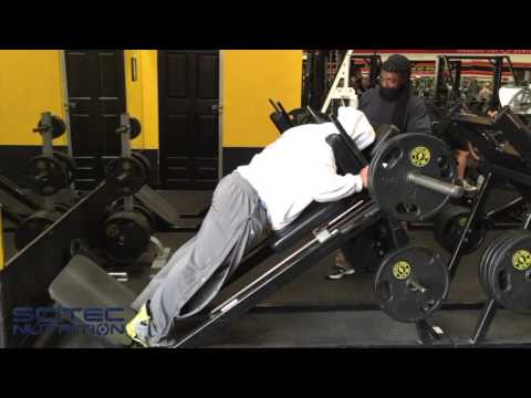 "Shawn ""Flexatron"" Rhoden trains hamstrings at The Mecca"
