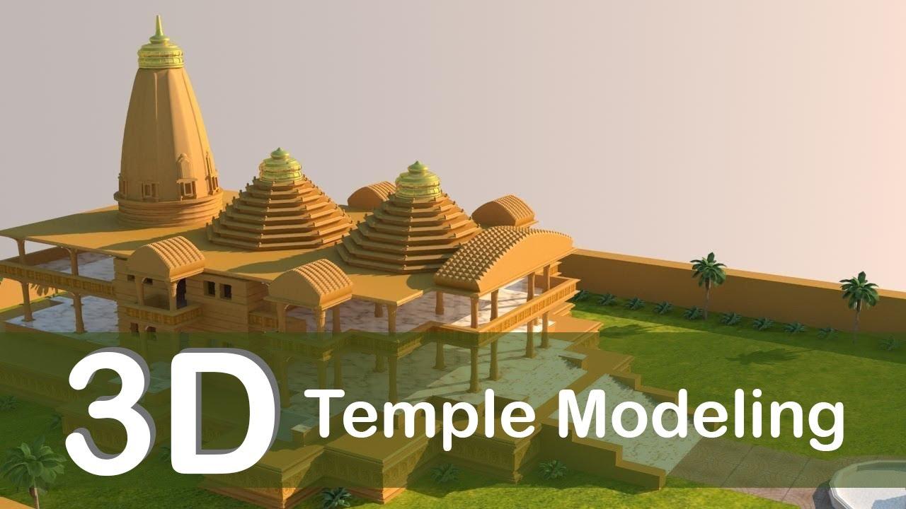 3D Temple Modeling-Part-5