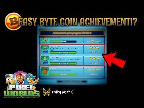 EASY BYTE COIN ACHIEVEMENT!   Pixel Worlds