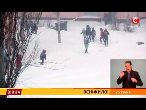 Вікна-новини: Всніжило – Вікна-новини – 23.01.2018