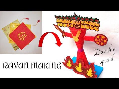 DIY-How To Make Ravan Out Of Paper At Home Easy || Dussehra/Diwali Special Ravan Making Craft 2018..