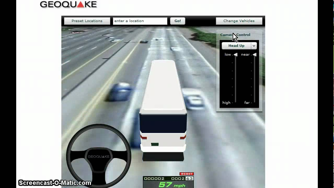 Driving simulator on Google Maps - YouTube on
