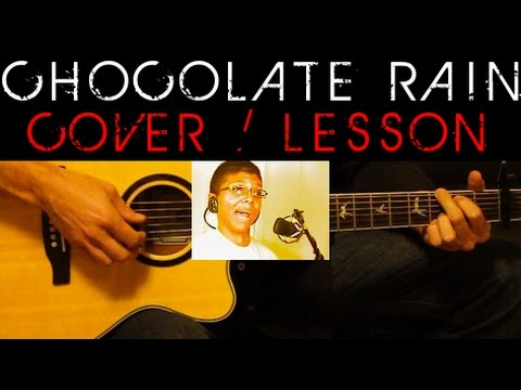 Chocolate Rain Tay Zonday Cover Easy Acoustic Guitar Tutorial