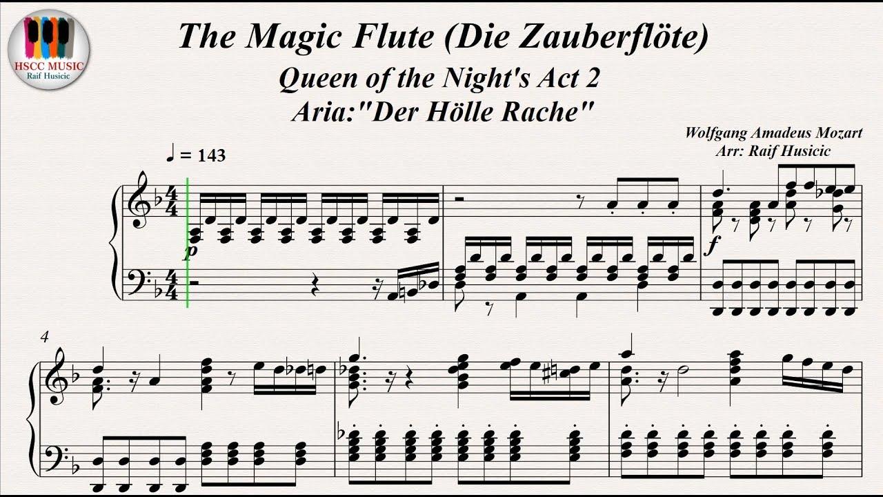 The Magic Flute Die Zauberflöte Queen Of The Night S Act 2 Aria Der Hölle Rache W A Mozart Youtube
