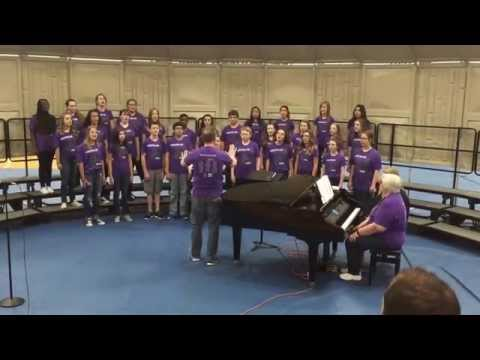 Lakeview MS Masterclass choir, Jaeger Lauf 5/16/15