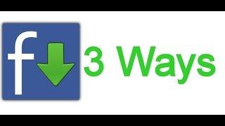 Download Facebook Videos Download Private Facebook Videos FB