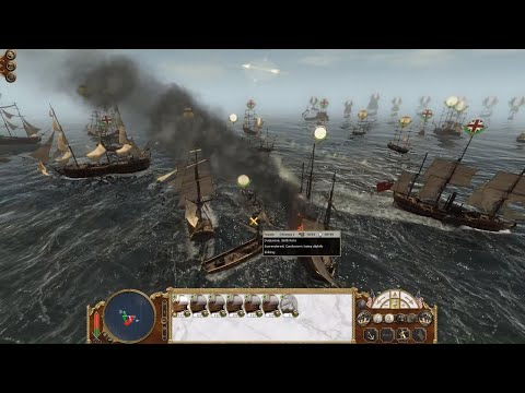 Empire: Total War - Spanish/United States vs French/British  Fleet Battle (1080p | Full Battle)