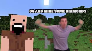 """Galaxy Goats """"Tunnel Vision"""" Minecraft Parody But Every Time He Says Diamonds It Speeds Up"""