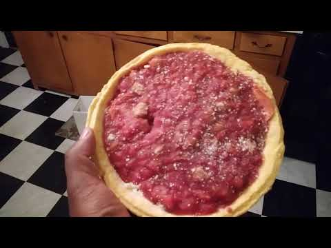 Gino's East Of Chicago The Original Sausage And Pepperoni Deep Dish Pizza Review