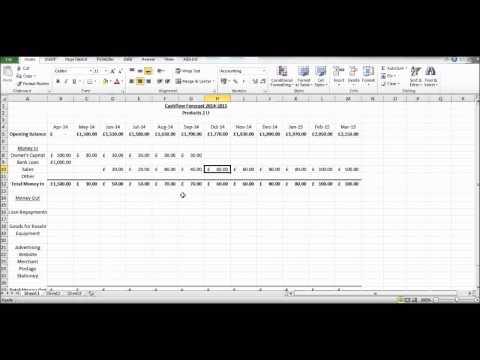 How to Create a Cash Flow Forecast using Microsoft Excel - Basic Cashflow Forecast
