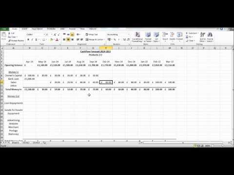 How to Create a Cash Flow Forecast using Microsoft Excel - Basic Cashflow Forecast
