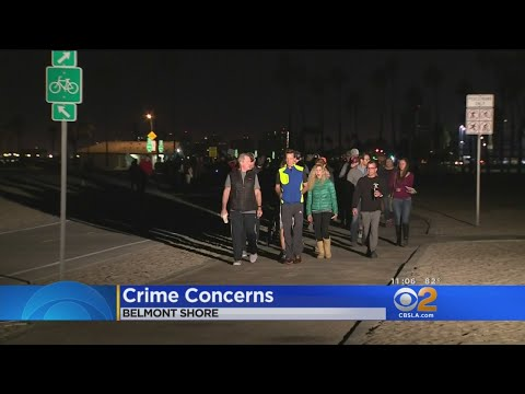 Crime Watch March In Belmont Shore Attracts Protest From Homeless Advocates