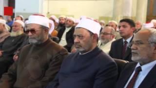 بالفيديو والصور.. شيخ الأزهر يُشارك في عزاء رئيس الجمعية الشرعية