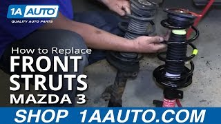 How To Install Front Shocks Struts and Spring 2004-12 Mazda 3