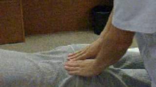 坐骨神経痛、腰からお尻の痛みの整膚マッサージ
