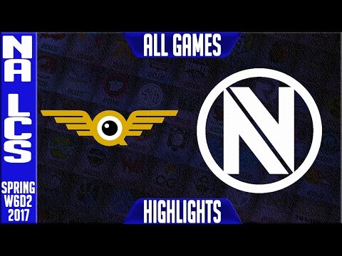 Fly Quest vs Team Envyus Highlights All Games - NA LCS W6D2 Spring 2017 - FLY vs NV All Games