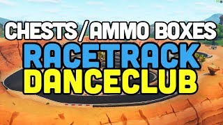 """""""Search Chests or Ammo Boxes at a Racetrack or a Dance Club"""" Locations Fortnite"""