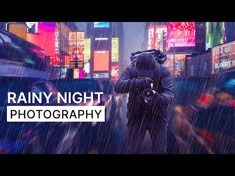 Rainy Night Photography NYC | Behind The Scenes POV