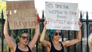 Repeat youtube video Cape Town sees hundreds of women march against Donald Trump