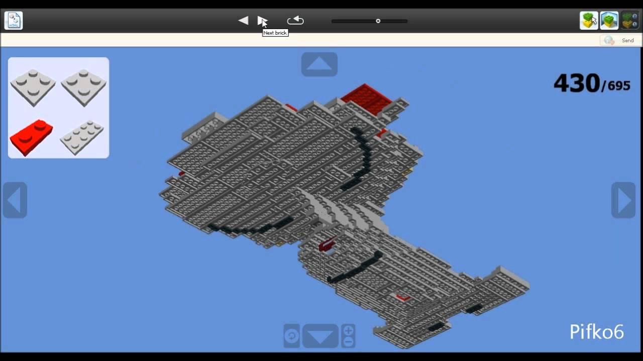 building enterprise d in lego digital designer youtube. Black Bedroom Furniture Sets. Home Design Ideas