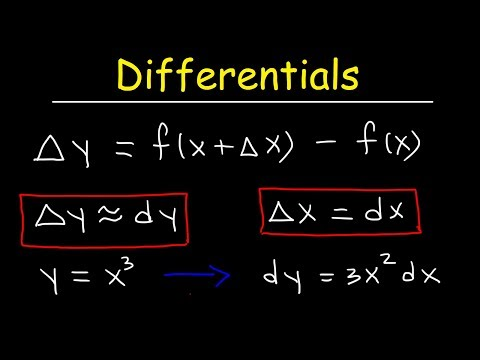 Differentials and Derivatives - Local Linearization