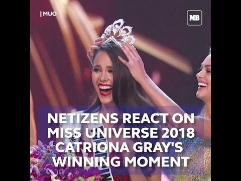 Netizens react on Miss Universe 2018 Catriona Gray's winning moment Mp3