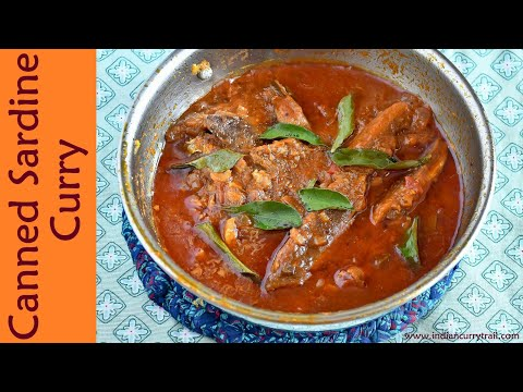 Canned Sardine Curry | Indian Style Canned Sardine Curry
