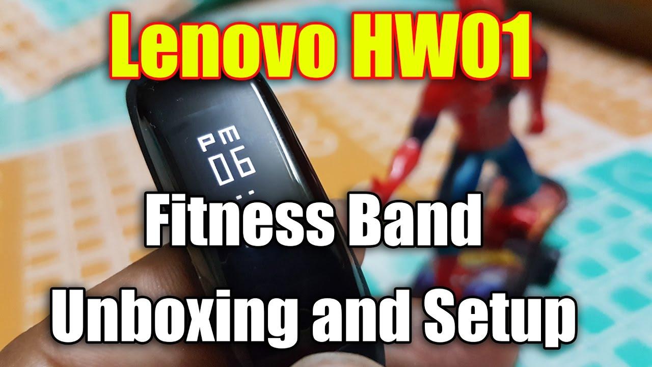 Lenovo HW01 Fitness Band, Unboxing and Setup | India Variant