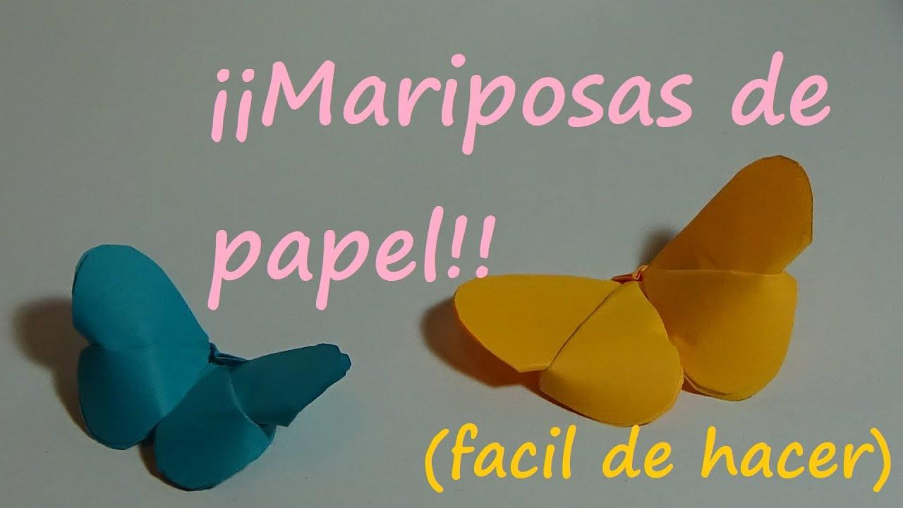 Como hacer mariposa de papel facil origami youtube - Como hacer mariposas de papel ...