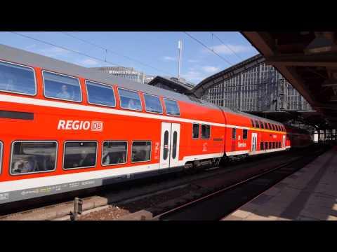 Züge im Bahnhof Berlin Friedrichstraße [1080p]