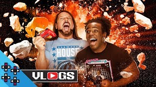AJ STYLES & AUSTIN CREED are the SUPER SMASH GOOD BROTHERS!! - UUDD Vlogs