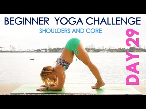 Day 29 Beginner Yoga Challenge - The Playful Dolphin for Strong Shoulders and Core thumbnail