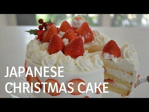 Japanese Christmas Cake.How To Make Japanese Christmas Cake クリスマスケーキの作り方 Ep85
