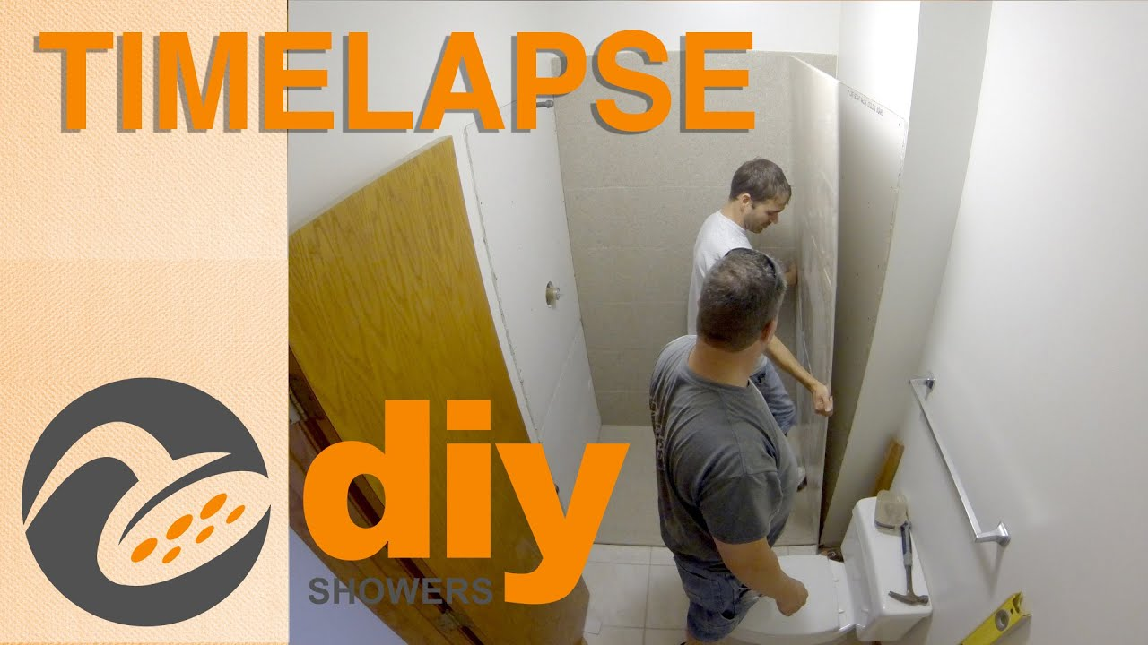 Timelapse - Two-day Onyx Remodel of Shower Pan and Panels ...
