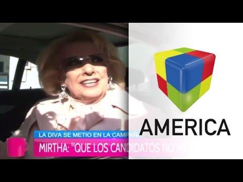 Mirtha Legrand se metió de lleno en la campaña y retó a Macri