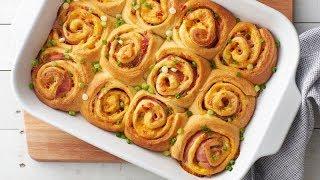 Hot Ham & Pimiento Cheese Crescent Roll-Up Sandwiches  Pillsbury Recipe