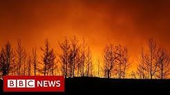 Wildfires threaten Turkey coastal resorts - BBC News