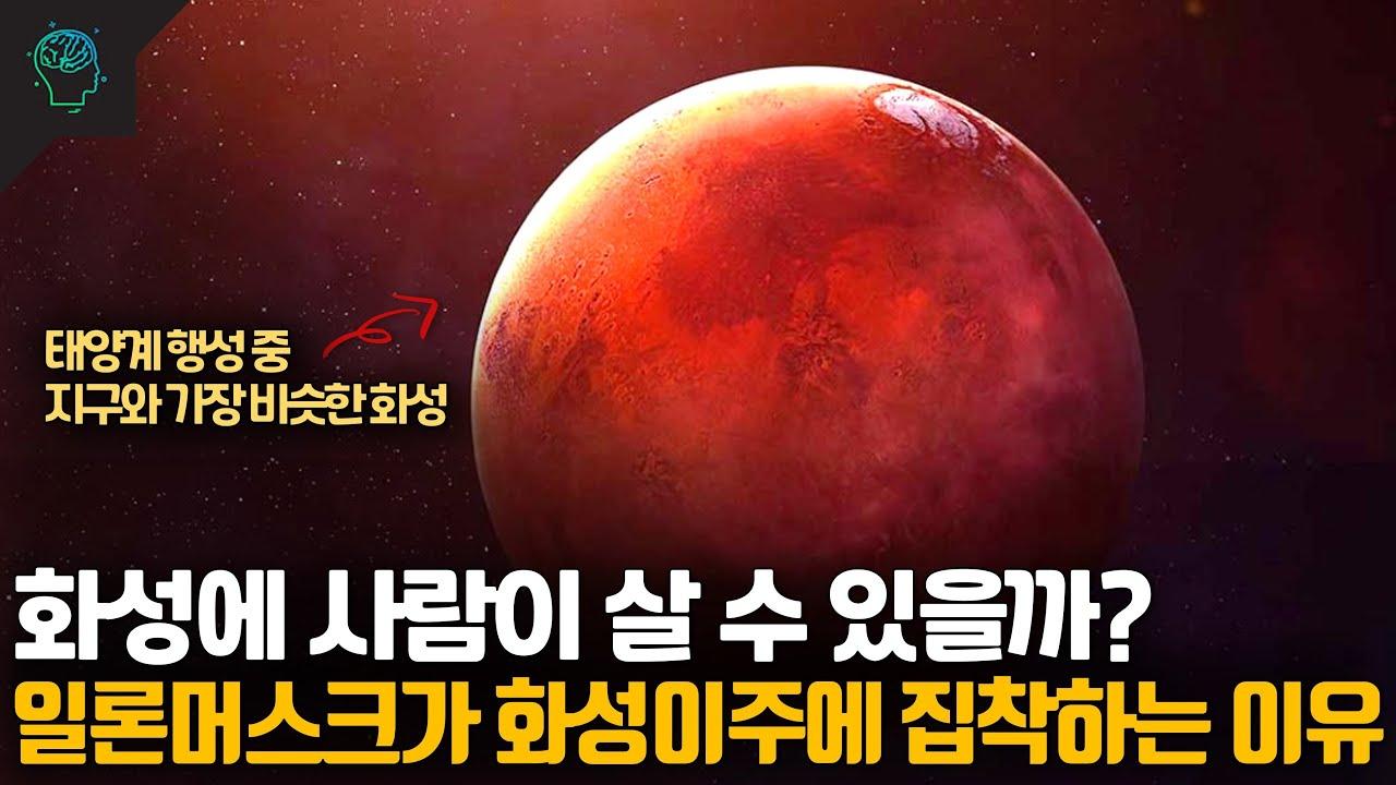 화성에 사람이 살 수 있을까? 일론머스크는 왜 화성에 집착할까 (feat 인류멸망)