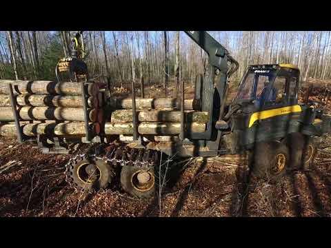 Franks Logging Ponsse Scorpion and Forwarder Demo