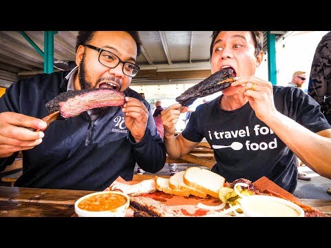 GIANT BEEF RIBS and Brisket - AMERICAN FOOD BBQ at Little Miss BBQ in Phoenix, AZ!