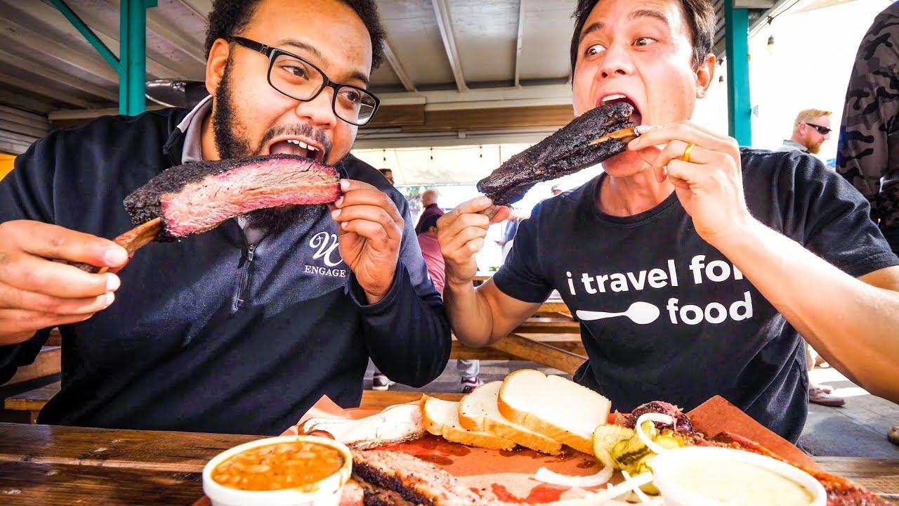 GIANT BEEF RIBS and Brisket - AMERICAN FOOD BBQ at Little Miss BBQ in Phoenix, AZ!