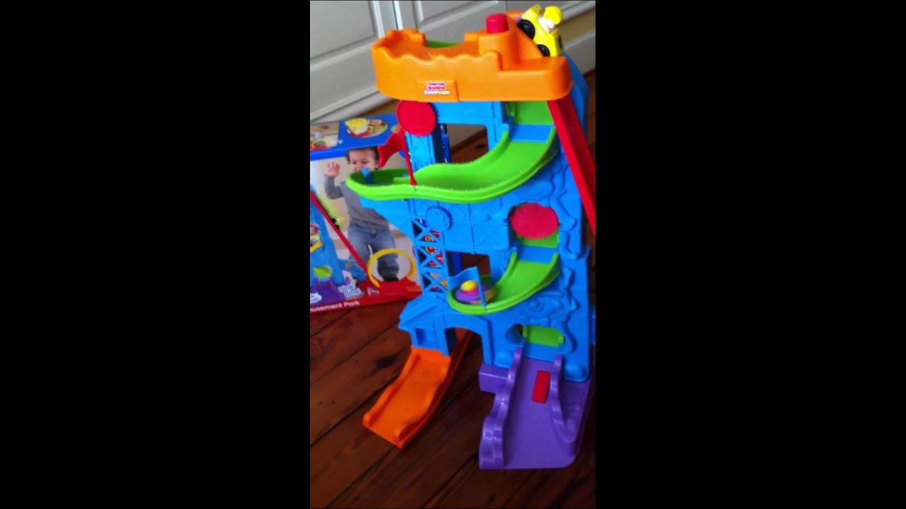 toyportfolio.com: Fisher-Price's Little People Wheelies Loops 'n Swoops Amusement Park - YouTube