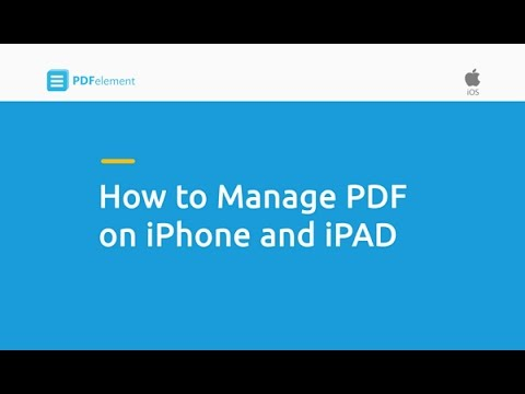 How to Manage PDF on iPhone and iPad