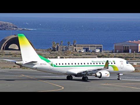 Mauritania Airlines Embraer 175 at Gran Canaria Airport
