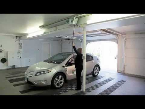 Overhead Garage Electric Vehicle Charger By Evse Llc Youtube